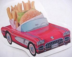 9 ~ Assorted Classic Cardboard Cars Kids Food Box  Party Planner Table Center A