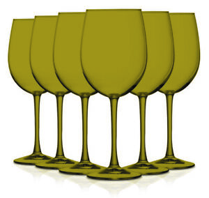 Colorful Full Accent 19 oz Wine Glasses Set of 6 Available in Vibrant Colors