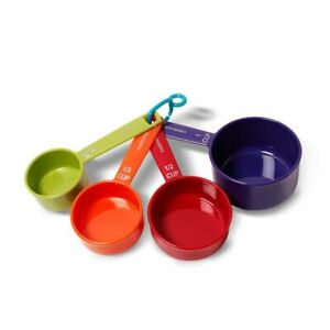 Farberware Color Measuring Cup Set Easy Read, Lightweight Plastic, Multicolor