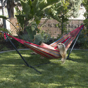NEW 10ft Double Hammock Stand Patio Outdoor Portable with Carrying Bag 4 Color