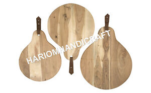 12''x15'' Set Of Three Amazing Wooden Round Vegetable Cutting Board E680
