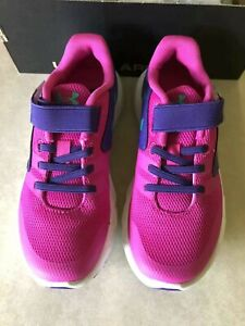 NEW Under Armour Girls Ua Gps Primed Ac Low Top Buckle Walking Shoes Size 2Y $38.00