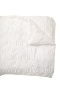 NEW NORDSTROM Rack White Ruched Tonal Stripe Cotton Duvet Cover Queen 90