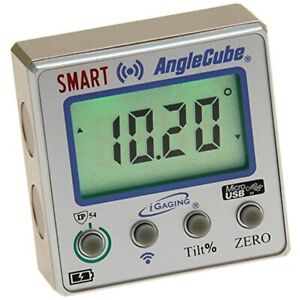 IGaging Digital Angle Cube Guage Bluetooth Bevel Level Protractor Magnetic Panes $57.99