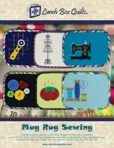 Mug Rug Sewing Designs by Lunch Box Quilts $27.00