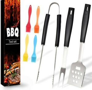 Ranphykx BBQ Grill Tool Set. 7pcs Barbecue Grilling Accessories, Includes
