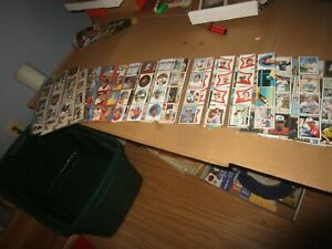 Huge 1981 1982 1983 Topps Baseball Stamp Lot in Plastic sheets Loaded
