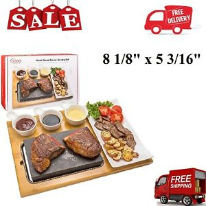Higoshi Hot Stone Cooking Steak On The Stone Hibachi Grill Lava Sizzling Plate