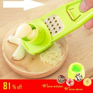 Stainless Steel Garlic Presses Ginger Cutter Plastic Tool  Kitchen Grater Grind