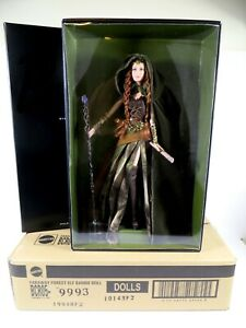 **NIB BARBIE DOLL 2014 FARAWAY FOREST ELF GOLD LABEL W SHIPPER BDH37