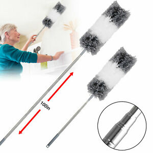Extendable amp;Bendable Soft Microfiber Duster Dusting Brush Cleaning Tool Washable