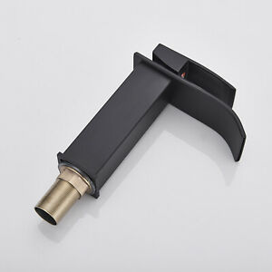 BWE Antique Bronze Copper Waterfall One Hole Commercial Bathroom Sink Faucet