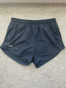 Girls Under Armour Shorts Black with Gray Liner Size Small Lightly Used $14.99