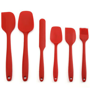 6pcs Silicone Spoon Utensil Spatula Set Non stick Heat Resistant Baking Kitchen $9.99