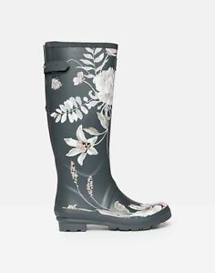Joules Womens Printed Tall Rain Boots DARK GREY FLORAL US Adult 5
