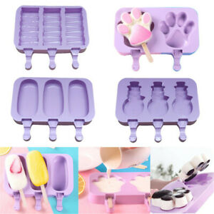 Silicone Ice Cream Mold Frozen Juice Popsicle Maker Ice Pop Molds With Cover
