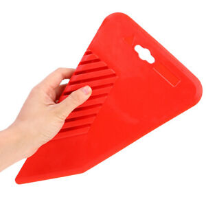 AU_ Large Rubber Smoother DIY Decorating Wall Paint Finishing Spatula Scraper Bo