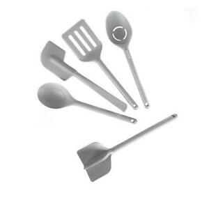 New Curtis Stone 5 Piece Compact Nylon Tool Set Cooking Utensil , Gray