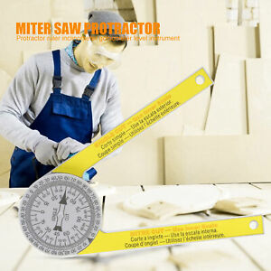 ANGLE FINDER RULER MITER SAW PROTRACTOR MEASURING TOOL LEVEL INSTRUMENT $7.27