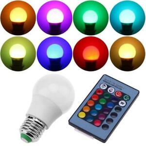 RGB RGBW LED Bulb Light 10 Color Changing E27 Lamp + IR Remote Controller