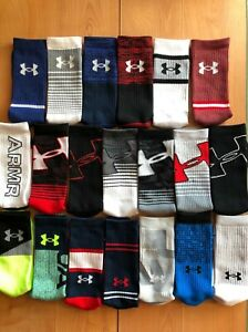 NEW Under Armour UA Phenom Training Socks 1 Pair Size Medium Men 4 8, Women 6 9 $8.00