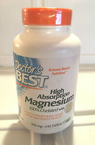 Doctors Best High Absorption Chelated Magnesium 100 mg..240 tablet 11 20