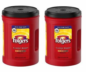 LOT of 2 Folgers Classic Roast Ground Coffee (51 oz.) FREE SHIPPING