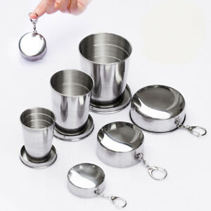 Foldable Camping Cup Portable Outdoor Collapsible Cup Stainless Steel Travel Hik