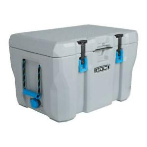 55 Quart Cooler 7 Day Ice Retention High Performance Portable Chest Box Gray