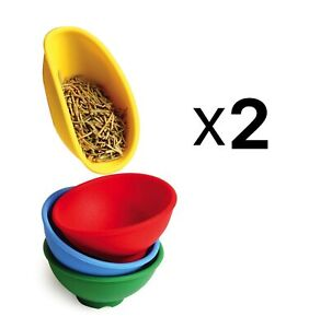 Norpro Set of 4 Mini Silicone Pinch Bowls, Assorted Colors (Pack of 2)