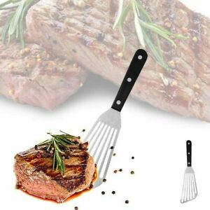 Stainless Steel Steak Slotted Turner Shovel Fish Spatula Cooking Accessories
