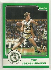 LARRY BIRD 1984 STAR COMPANY Boston Celtics BASKETBALL CARD #11
