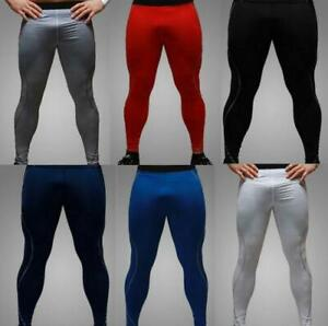 Chic Long Leggings Thermal Compression Under Mens Tight Base Layer Pants M XXL $16.78