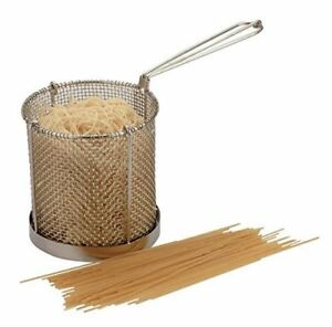 Spaghetti Pasta Cooking Basket & Drainer Stainless Steel Colander
