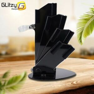 Black Acrylic Kichen Knife Holder for Ceramic Knife 3'' 4'' 5'' 6'' inch Knives