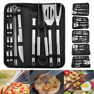 BBQ Grill Kit Stainless Steel Utensils Tools Set Outdoor Gril Accessories