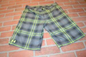 10330 a Boys Under Armour Golf Shorts Size Youth XL Gray Polyester NEW TAGS $24.79