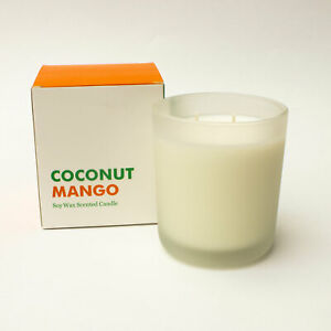 NEW Coconut Mango Scented Candle – Soy Wax – Hand Poured – 650g – Gift Present