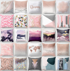 Cushion Cover Pink Abstract Marble Home Decor Decorative Bed PILLOW CASE 18x18