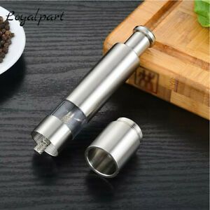 Stainless Steel Salt Pepper Push Grinder Thumb Spice Sauce Grinder Mill Muller