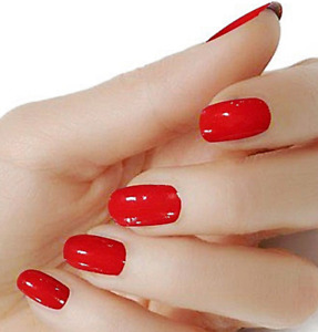 Red solid color wraps real nail polish strips street art M7 Free Shipping $5.20