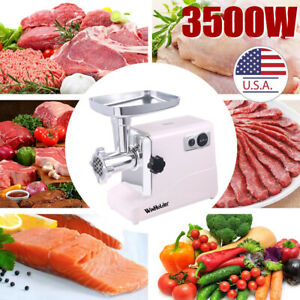 3500W Electric Meat Grinder Sausage Stuffer Grinding with Plates Sausage Tubes