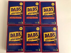 6 Boxes Dad's Root Beer Sugar Free Drink Mix Singles To Go Sticks (36 Packets)