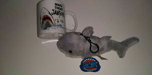 NWT Official Shark Week Merch. Make Today Jawsome Mug Plush Great White Clip-On