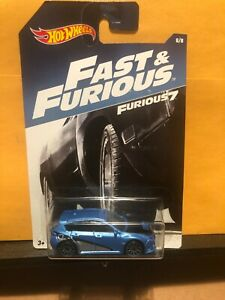 1 64 HOT WHEELS FAST & FURIOUS 7 SUBARU WRX STI BLUE 8 8