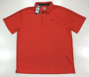 Under Armour Red Fish Polo Golf Logo Short Sleeve Shirt Size 2XL $29.99