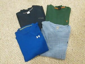 Mens UNDER ARMOUR POLO COLUMBIA 4 Long Sleeve Casual Shirts Size Large $15.99