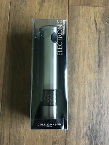 COLE  MASON Electric Pepper Grinder with LED Light - Electronic