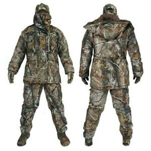 New Mens Tactical Clothing Waterproof 5PCS Military Camouflage Hunting Clothes