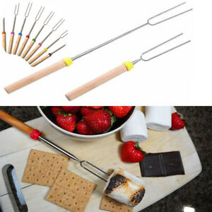Campfire New Outdoor Camping Skewers Roasting Sticks BBQ Forks Telescoping